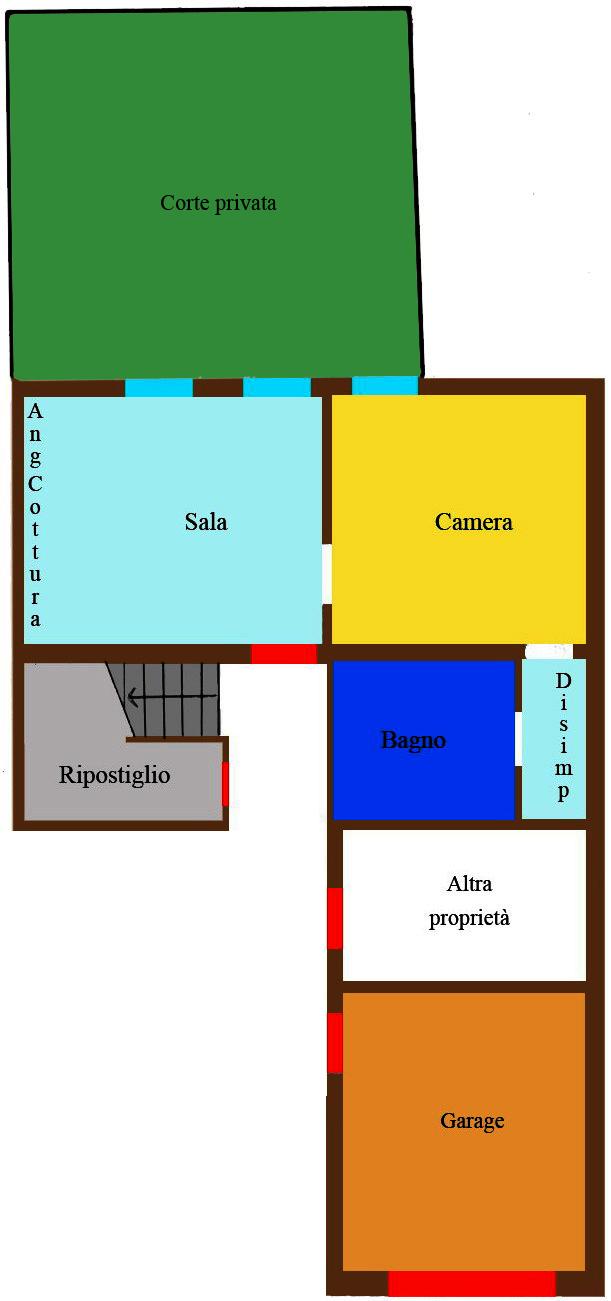 Grazioso appartamento con cortile e garage caroli for Garage prefabbricato con costo dell appartamento
